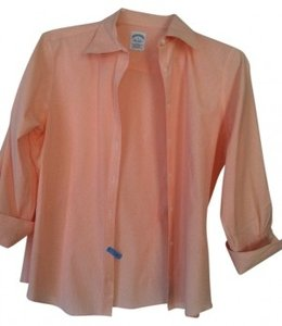 Brooks Brothers Gingham Button Down Shirt Orange/peach