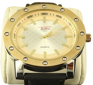 Two Tone Watch Aqua Master 18k Gold Tone 50mm Jojino Ice Time Jojo Black Band