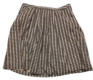 Cato Polka Dot Pockets Cotton Skirt Black and White