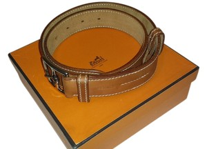 Hermès HERMES ETREVIERE 32 IN NATURAL LEATHER.