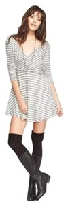 Free People short dress Cream and black Striped on Tradesy