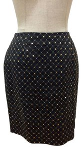 Citi by Yansi Fugal Sequin Quilted Skirt Black and Gold