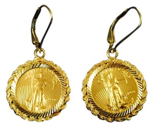 Pure Gold Coin Earrings
