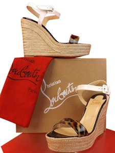 Christian Louboutin White/Brown Sandals
