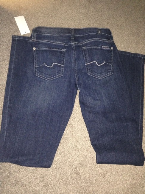 7 For All Mankind Straight Pants Medium Indigo Wash