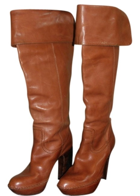 Item - Rust Leather Boots/Booties Size US 7 Regular (M, B)
