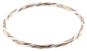 BrianG Designed Sterling Silver and Copper Wire Twist Bangle Bracelet @ BrianGdesigns