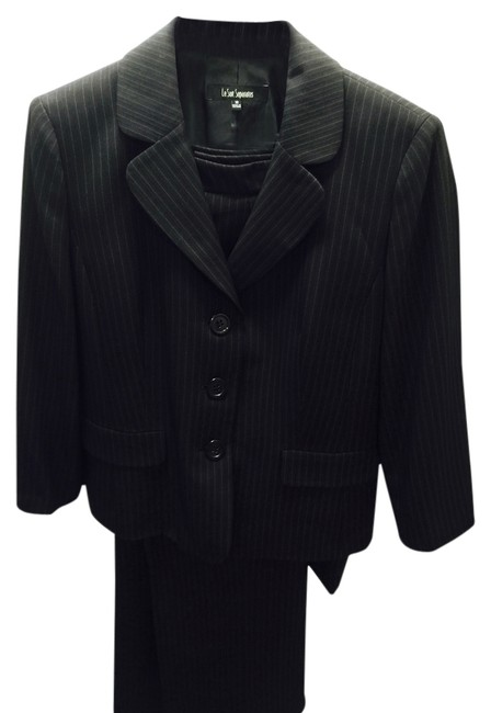 Item - Black with Pink Pin Stripe Great and Pants Skirt Suit Size 18 (XL, Plus 0x)
