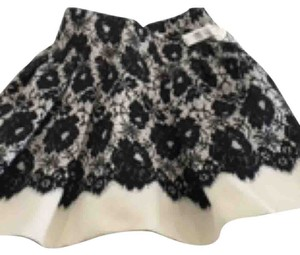 MILLY Skirt Ivory/black