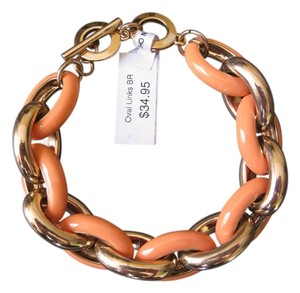 Coldwater Creek Coldwater Creek Oval Links Chain Gold Peach Bracelet