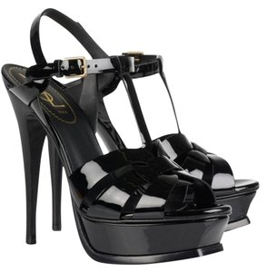 Saint Laurent Tribute Ysl Black Sandals