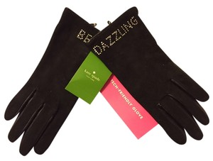 Kate Spade Kate Spade Be Dazzling Suede Gloves Sz 6.5