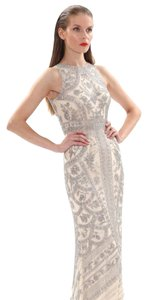 Theia Blone Beaded Halter Dress
