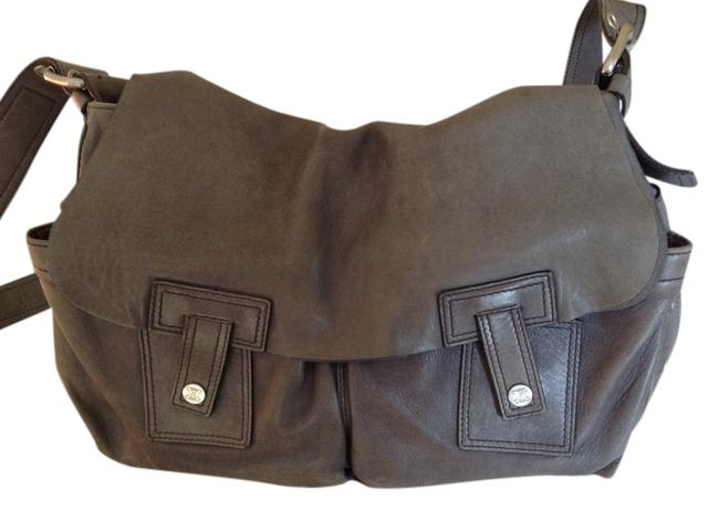 Item - Messenger Grey with Silver Hardware Distressed Leather Cross Body Bag