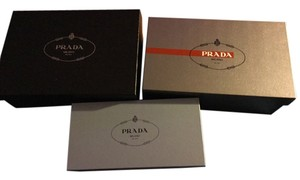 Prada Lot of 3x different size Prada gift storage boxes
