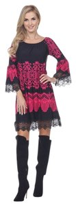 White Mark short dress Black Fuchsia on Tradesy