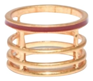 Madewell Madewell cherry stripe cage ring size 8