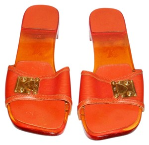 3837a242fd71 Orange Louis Vuitton Sandals - Up to 90% off at Tradesy