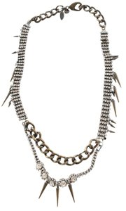 J.Crew Rhinestone Chain Jaws Necklace