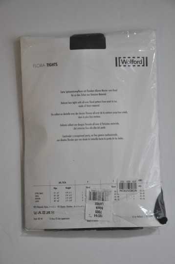 Wolford Wolford Brand New Flora Black Tights Size L