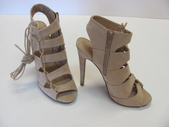 JustFab Size 7.00 M Excellent Condition NEUTRAL Boots
