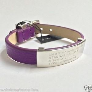 Marc by Marc Jacobs Marc By Marc Jacobs M5134117 Standard Supply Id Leather Bracelet - Cosmic Purple