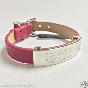Marc by Marc Jacobs Marc By Marc Jacobs M5134117 Standard Supply Id Leather Bracelet - Rose Petal