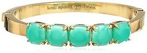 Kate Spade Kate Spade Wbru9456 Squared Away Turquoise Station Gold Bangle Bracelet
