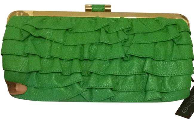 Item - Ruffle Green Clutch