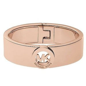 Michael Kors Michael Kors Mkj2927 Rose Gold Tone Fulton Bangle W Mk Logo Medallion