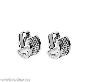 Michael Kors Michael Kors Mkj4087 Silver Clear Pave Huggie Clip Earring
