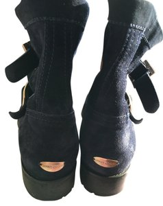 Jimmy Choo Blue Suede Navy Boots