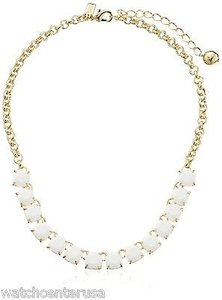 Kate Spade Kate Spade Wbru9740 Squared Away Gold Pearl Necklace