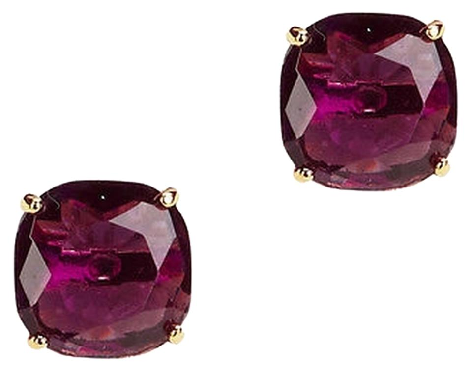 Kate Spade Wbru6415 Essentials Amethyst 14k Gold Stud Earrings