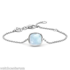 Ti Sento 2802lb Light Blue Crystal Sterling Silver Bracelet