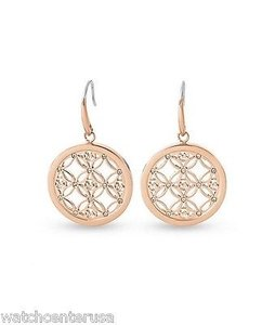 Michael Kors Michael Kors Mkj4279 Rose Gold Monogram Open Hoop Earrings