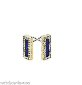Michael Kors Michael Kors Mkj4254 Semi Precious Blue Stone Pave Stud Earrings