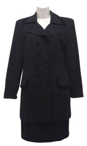 Christian Dior Christian Dior Navy Skirt & Jacket Set