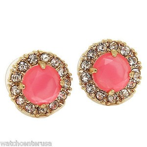 Kate Spade Kate Spade Wbru7896 Secret Garden Red Gold Studded Earrings