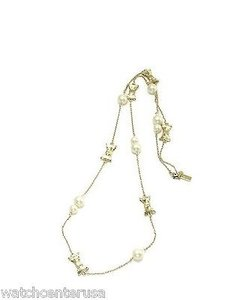 Kate Spade Kate Spade Wbru8622 Gold Bow Charm Stations Necklace