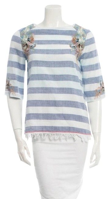 SUNO Blue and White Blouse Size 4 (S) SUNO Blue and White Blouse Size 4 (S) Image 1