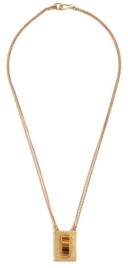 Preload https://img-static.tradesy.com/item/11130736/madewell-gold-tiger-s-eye-chainknot-necklace-0-2-540-540.jpg