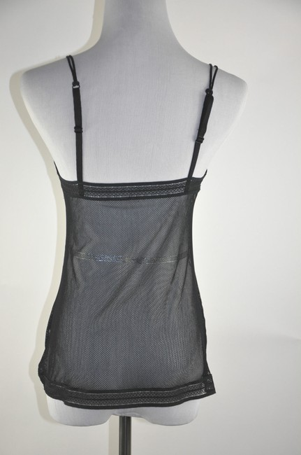 Wolford Mesh Camisol Size L Top Black Multi Floral
