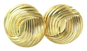 14KT YELLOW GOLD EARRINGS BUTTON