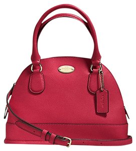Coach Mini Cora Crossgrain Leather Shoulder Bag