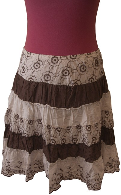 Preload https://item3.tradesy.com/images/joe-benbasset-striped-floral-skirt-brown-and-white-1113262-0-1.jpg?width=400&height=650