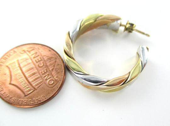 Other 14KT YELLOW WHITE & ROSE GOLD EARRINGS HOOPS