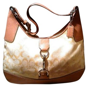 Coach Leather Canvas Handbag Shoulder Bag