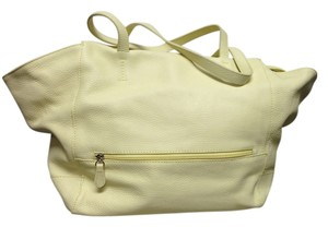 Berge Tote in Yellow /Creme