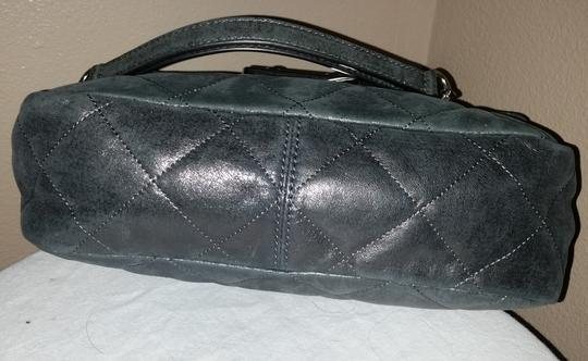 Michael Kors Quilted Leather Chain Strap Night Out Grey Clutch